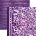Paper House Productions - Color Ways Collection - Orchid - 12 x 12 Double Sided Paper - Tapestry