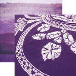 Paper House Productions - Color Ways Collection - Orchid - 12 x 12 Double Sided Paper - Batik