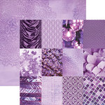 Paper House Productions - Color Ways Collection - Orchid - 12 x 12 Double Sided Paper - Mini Trim Cards