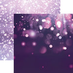 Paper House Productions - Color Ways Collection - Orchid - 12 x 12 Double Sided Paper - Dark Bokeh