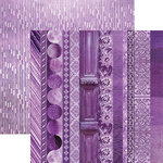 Paper House Productions - Color Ways Collection - Orchid - 12 x 12 Double Sided Paper - Trimmings