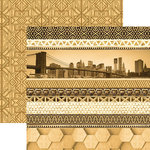 Paper House Productions - Color Ways Collection - Gatsby - 12 x 12 Double Sided Paper - Edgings
