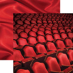 Paper House Productions - Color Ways Collection - Rouge - 12 x 12 Double Sided Paper - Theater
