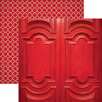 Paper House Productions - Color Ways Collection - Rouge - 12 x 12 Double Sided Paper - Sculpted Entry