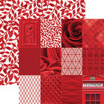 Paper House Productions - Color Ways Collection - Rouge - 12 x 12 Double Sided Paper - Mini Trim Cards