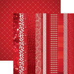 Paper House Productions - Color Ways Collection - Rouge - 12 x 12 Double Sided Paper - Edgings