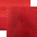 Paper House Productions - Color Ways Collection - Rouge - 12 x 12 Double Sided Paper - Crocodile