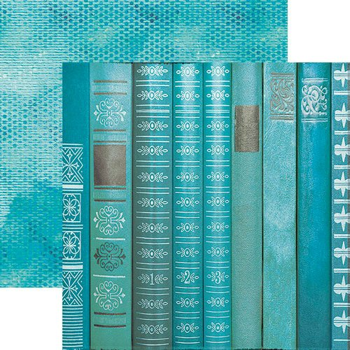 Paper House Productions - Color Ways Collection - Atlantis - 12 x 12 Double Sided Paper - Books