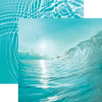 Paper House Productions - Color Ways Collection - Atlantis - 12 x 12 Double Sided Paper - Wave