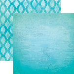 Paper House Productions - Color Ways Collection - Atlantis - 12 x 12 Double Sided Paper - Map