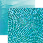 Paper House Productions - Color Ways Collection - Atlantis - 12 x 12 Double Sided Paper - Turquoise