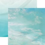 Paper House Productions - Color Ways Collection - Atlantis - 12 x 12 Double Sided Paper - Cloudy Skies