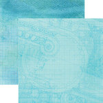 Paper House Productions - Color Ways Collection - Atlantis - 12 x 12 Double Sided Paper - Roman Column