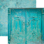 Paper House Productions - Color Ways Collection - Atlantis - 12 x 12 Double Sided Paper - Door to Atlantis