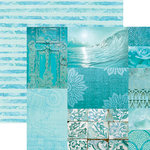 Paper House Productions - Color Ways Collection - Atlantis - 12 x 12 Double Sided Paper - Trim Cards
