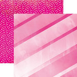 Paper House Productions - Color Ways Collection - Flamingo - 12 x 12 Double Sided Paper - Stripes