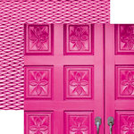 Paper House Productions - Color Ways Collection - Flamingo - 12 x 12 Double Sided Paper - Door