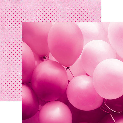 Paper House Productions - Color Ways Collection - Flamingo - 12 x 12 Double Sided Paper - Balloons