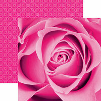 Paper House Productions - Color Ways Collection - Flamingo - 12 x 12 Double Sided Paper - Rose