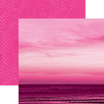 Paper House Productions - Color Ways Collection - Flamingo - 12 x 12 Double Sided Paper - Sunset