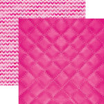 Paper House Productions - Color Ways Collection - Flamingo - 12 x 12 Double Sided Paper - Quilted