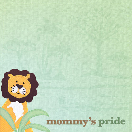 Paper House Productions - Little Man Collection - 12 x 12 Paper - Mommy's Pride