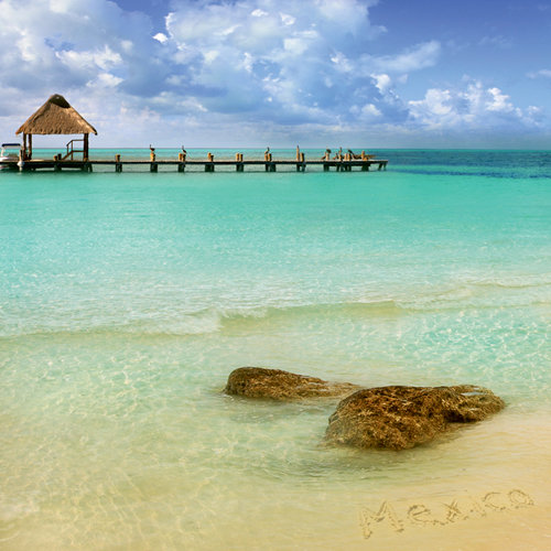 Paper House Productions - Mexico Collection - 12 x 12 Paper - Cancun Beach