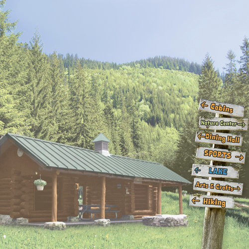 Paper House Productions - Summer Camp Collection - 12 x 12 Paper - Summer Cabin
