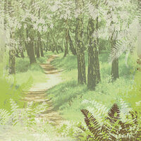 Paper House Productions - Summer Camp Collection - 12 x 12 Paper - Woodland Path