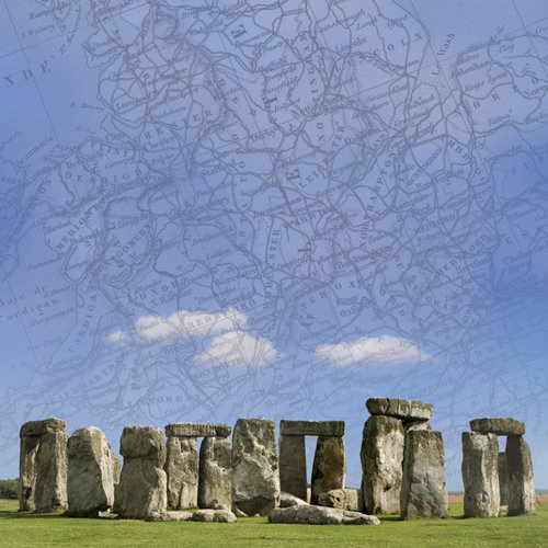 Paper House Productions - England Collection - 12 x 12 Paper - Stonehenge