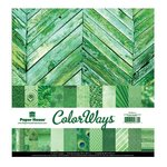 Paper House Productions - Color Ways Collection - Emerald - 12 x 12 Paper Pack