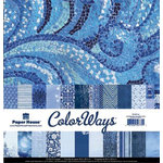 Paper House Productions - Color Ways Collection - Sapphire - 12 x 12 Paper Pack