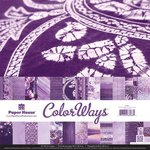 Paper House Productions - Color Ways Collection - Orchid - 12 x 12 Paper Pack