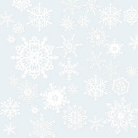 Paper House Productions - Home for Christmas Collection - 12 x 12 Acetate Paper - Snowflakes