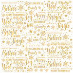 Paper House Productions - Christmas - 12 x 12 Acetate Paper - Christmas Joy