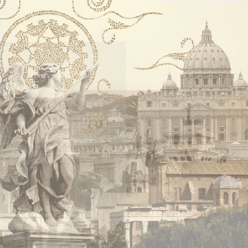Paper House Productions - Rome Collection - 12 x 12 Paper with Glitter Accents - Rome