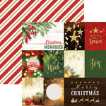 Paper House Productions - Christmas - 12 x 12 Double Sided Paper - Christmas Joy Tags