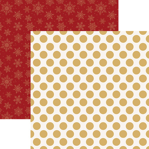 Paper House Productions - Christmas - 12 x 12 Double Sided Paper - Gold Dots