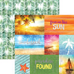 Paper House Productions - Sun Drenched Collection - 12 x 12 Double Sided Paper with Foil Accents - Fun in the Sun