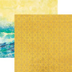 Paper House Productions - Sun Drenched Collection - 12 x 12 Double Sided Paper with Foil Accents - Sundrenched