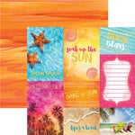 Paper House Productions - Sun Drenched Collection - 12 x 12 Double Sided Paper with Foil Accents - Soak up the Sun