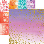 Paper House Productions - Color Washed Collection - 12 x 12 Double Sided Paper with Foil Accents - Sparkle