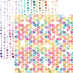 Paper House Productions - Color Washed Collection - 12 x 12 Double Sided Paper with Foil Accents - Prisms