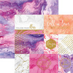 Paper House Productions - Marbleous Collection - 12 x 12 Double Sided Paper with Foil Accents - Follow Your Bliss