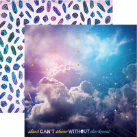 Paper House Productions - Stargazer Collection - 12 x 12 Double Sided Paper with Foil Accents - Stars Can't Shine Without Darkness