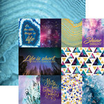 Paper House Productions - Stargazer Collection - 12 x 12 Double Sided Paper with Foil Accents - Shine Bright