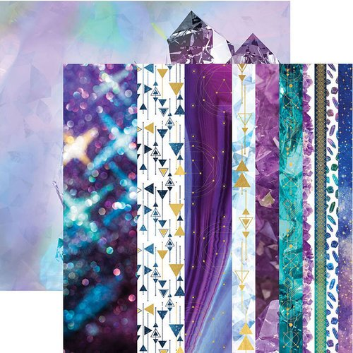 Paper House Productions - Stargazer Collection - 12 x 12 Double Sided Paper with Foil Accents - Ultra Violet