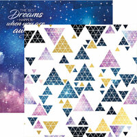 Paper House Productions - Stargazer Collection - 12 x 12 Double Sided Paper with Foil Accents - Night Sky