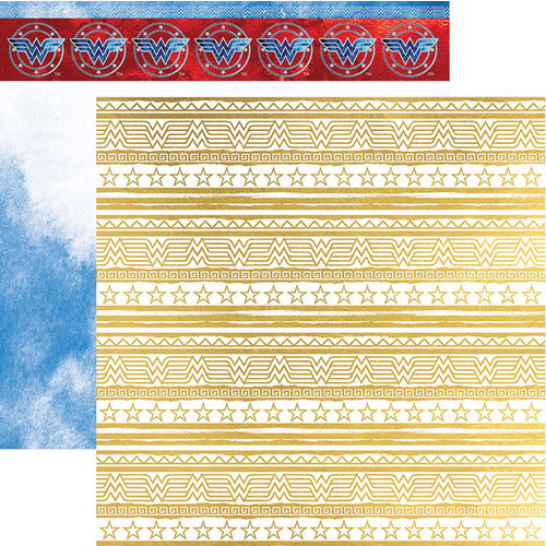 Paper House Productions - Wonder Woman Collection - 12 x 12 Double Sided Paper with Foil Accents - Amazon Princess
