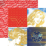 Paper House Productions - Wonder Woman Collection - 12 x 12 Double Sided Paper with Foil Accents - Wonder Woman Portraits